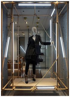 Valentino window, Milan. Photographed & pinned by Kozerska Maria, KMstudio.
