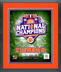 The Clemson Tigers 2016 National Champions Logo 11 x 14 Matted/Framed Photo