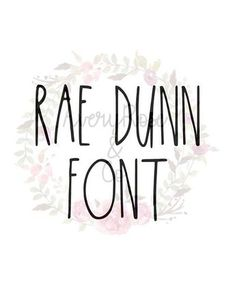 Rae Dunn Inspired Font * This is an actual font file - OTF, TTF * Use this font to create beautiful signs and crafts! Perfect for those who cant find the real deal so theyd rather fake it til they make it. This font includes letters A-Z, question mark (?), exclamation (!), comma,