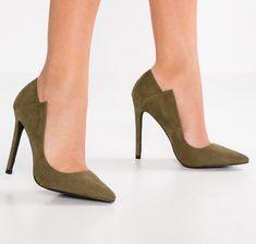 Paris Khaki Angled Cut Heels Stiletto Heels, Spring Summer, Pumps, Boutique, Shoes, Fashion, Choux Pastry, Moda, Zapatos