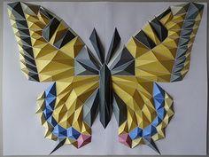 Butterfly by Kota Hiratsuka.  3D Paper Art