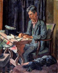 """English Vanessa Bell Portrait of Leonard Woolf married to the artist's sister, Virginia Woolf. More of Bloomsbury Group. Vanessa Bell, Virginia Woolf, Dora Carrington, Duncan Grant, Leonard Woolf, Bloomsbury Group, Post Impressionism, National Portrait Gallery, Art Uk"