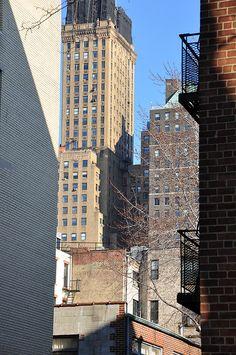 Downtown Brooklyn, seen from an alley off Clinton Street.