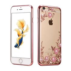 Lemonlan Flora Diamond Case for Apple iPhone 7 Plus for iPhone 6 Plus /6S Plus Chic Flower Bling Soft TPU Clear Phone Back Cover ** AliExpress Affiliate's buyable pin. Find similar products on www.aliexpress.com by clicking the image