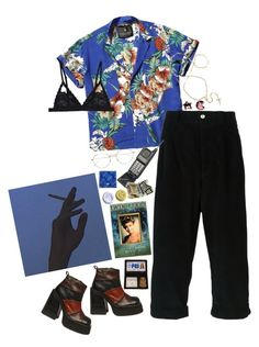 """""""it's called tropical goth"""" by katrinaballerina ❤ liked on Polyvore featuring Scully, Scotch & Soda, Société Anonyme, RetroSuperFuture, Cosabella, 90s and tropicalgoth"""