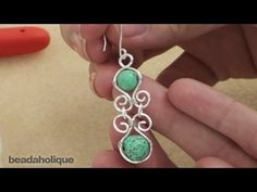 How to Make Wire Wrapped Components for the Desert Shores Earrings ~ Wire Jewelry Tutorials Wire Jewelry Designs, Metal Jewelry, Jewelry Crafts, Beaded Jewelry, Handmade Jewelry, Jewelry Ideas, Wire Jewelry Making, Jewelry Making Tutorials, Jewellery Making