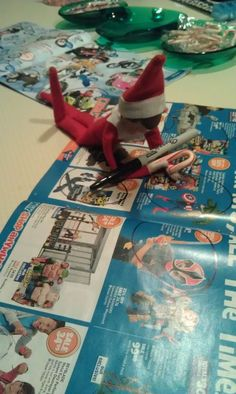 Elf on the Shelf making his own list..