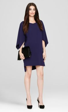 A gorgeous silhouette for fall, this vibrant Patsy Dress features oversized sleeving and slight v-neck for a season of trendsetting.     http://www.elietahari.com/womens-designer-clothing/designer-dresses/patsy-dress-grape-harvest/787724340451,default,pd.html?start=6=women-shop-dresses=women-shop-dresses