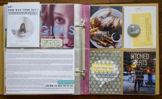 A spread from my Project Life album using Kelly Purkey stamps, stencils, badge, and label stickers.