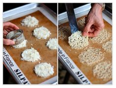 Parmesan Crisps are great for carb free soup toppers.  Check out the recipe.
