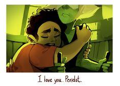"""I love you, Peridot."" ||| Steven and Peridot ||| Steven Universe 3x02 Fan Art by velocesmells on Tumblr"