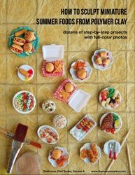 Boxed Set A - Polymer Tutoriais argila como esculpir Foods miniatura e mini doces de Polymer Clay CINCO eBooks