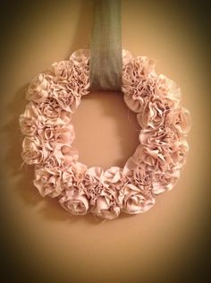 Fabric flower wreath for me!