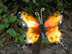 Beautiful Handmade Copper Butterfly Garden Sculpture. Add some whimsy to your garden with one of our beautiful copper butterflies! To save on shipping cost, the stick does not come with this. It can be purchased at any hardware store.