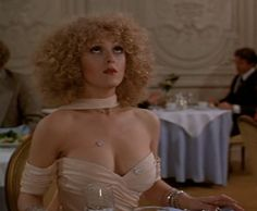 """Bernadette Peters in """"The Jerk"""" via Spokes 'n' Daggers one of my all time favorite outfits! Bernadette Peters, Emma Watson See Through, Arlene Dahl, Boston Legal, 40th Anniversary, Hottest Models, Beautiful Celebrities, Cut And Color, Playboy"""