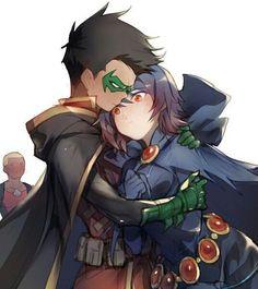 Έφηβοι Τιτάνες Starfire και Robin σεξ