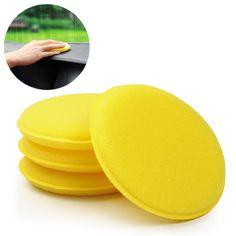 Coche Cera Esponja 12 unids/set Amarillo Anti-arañazos de Apósito De Espuma De Neumáticos Herramienta Del Cuidado de Coche de Limpieza de Coches