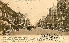 Tennessee, TN, Chattanooga, Market Street UDB 1906 Postcard