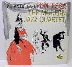 Fontessa The Modern Jazz Quartet Atlantic High Fidelity 1231 Stereo Disc LP Vinyl Jazz