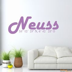 "Wandtattoo ""Stadtname Neuss"" - ab 14,95 € | Xaydo Folientechnik"