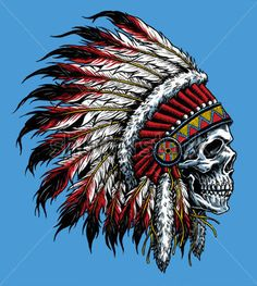 Indian Skull Vector Illustration stock vector - Clipart.me