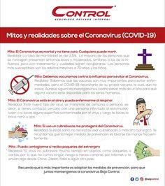 El coronavirus es una realidad, pero juntos podemos prevenir su contagio. Te compartimos la siguiente información para que juntos derribemos los mitos en torno a esta enfermedad y dejemos de lado la desinformación. #YoSoyControl #Prevención #VidaSana #Coronavirus #Covid-19 #Salud Healthy Life, Wellness, Health