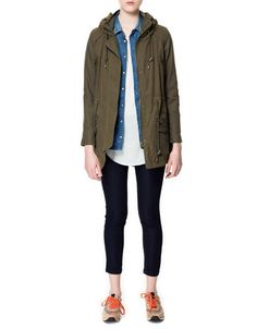 PARKA WITH ENCLOSING COLLAR - Jackets - Woman - New collection - ZARA