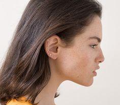 Rose Gold Ear Cuff. Minimal Ear Cuff. Gemstone by knobbly on Etsy, $68.00