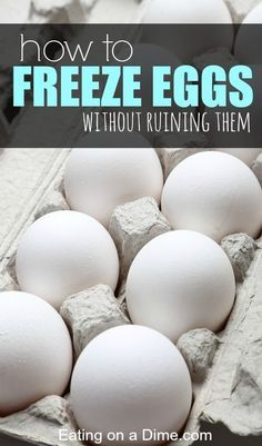 Here are some easy tips to help you see how easy it is to freeze eggs. With these tips you will be able to stock up on eggs when they are very cheap and freeze them without ruining them. Money Saving Tips, Saving Money Freezing Eggs, Freezing Cheese, Freezing Milk, Coconut Oil Weight Loss, Freezer Cooking, Freezer Hacks, Cooking Pork, Freezer Recipes, Cooking Tools