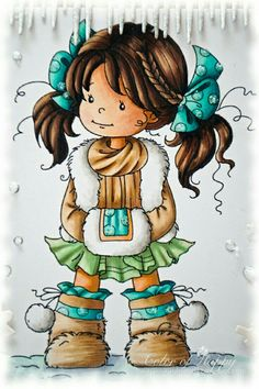 quenalbertini: Little girl illustration Whimsy Stamps, Digi Stamps, Cute Images, Cute Pictures, Illustrations, Illustration Art, Doodle People, Image Digital, Cute Clipart