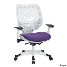 Office Star Space Seating White Self-adjusting Spaceflex-back Manager's Chair (purple)