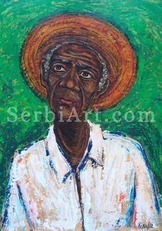 Isidora Ivanovic, acrylic painting,  Old Cuban, 2012        Acrylic painting