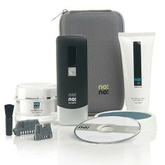 """no! no! 8800 Face and Bikini Professional Hair Removal Kit Just say """"no!"""" to unwanted and unsightly hair. Smooth skin is yours with consistent use of the no! no! deluxe beauty treatment. There are no depilatory creams and no nicks because there are no blades, no mess and no pulling. Enjoy the convenience of professional hair removal results in the comfort of your home. What You Get no! no! 8800 Face and Bikini Professional Hair Removal Kit Includes: no! no! device Charger Large buffer pad…"""