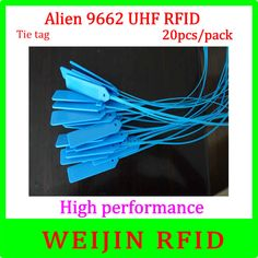UHF RFID tape lable 915MHz EPC Alien authoried 9662 20 pcs per pack free shipping Alien Higgs3 long distance passive rfid tags