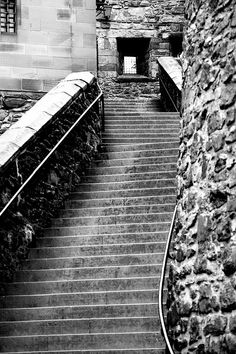 Places I've Been: Stairs at Edinburgh Castle - Europe Trip/March 2013 Prague Castle, Edinburgh Castle, Edinburgh Scotland, Scottish Castles, Scotland Castles, Edinburgh Photography, Famous Castles, Stairway To Heaven, Architectural Features