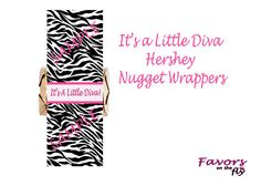 It's a Little Diva Baby Shower Candy Nugget by FavorsOnTheFly