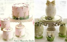 Simple easter cake and decorated easter egg cakes by Alessandra Frisoni Cake Studio
