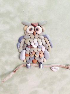Pebble art owl by gülen
