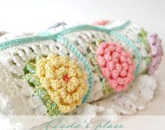 CROCHET PATTERN: English Garden Baby Blanket pdf by DadasPlace