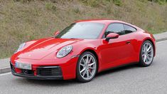 2019 Porsche 911 Caught Practically Naked Yet Again - CarBuzz Porsche 911, Porsche Sports Car, Porsche Cars, Cool Sports Cars, Cool Cars, Camouflage, 911 Turbo S, Roadster, Latest Cars