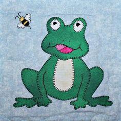 Frog or Toad & Bumblebee Applique Block | Craftsy