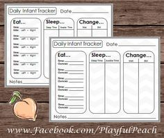 printable daily logs for baby put this print in an 8x10 frame hang