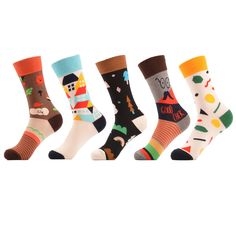Underwear & Sleepwears 3pairs Cotton Blend Mens Socks With Animals Patterns Autumn Winter Male Compression Dress Socks Fox Warm Socks Meias Homens Elegant Shape