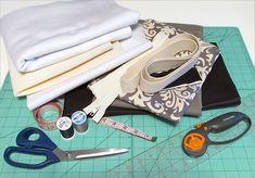 Stylin'+Damask+&+Canvas+Duffle:+Fabric+Depot