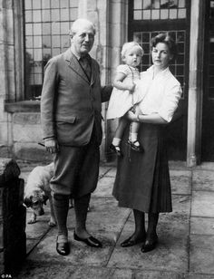 Prime Minister Harold Macmillan, Andrew's uncle by marriage, visited often. He is pictured here with the Duchess of Devonshire and her daughter Lady Sophia Cavendish