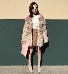 faux fur coat #pixiemarket