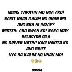 Tagalog Quotes Funny, Funny Quotes, Filipino Funny, Pinoy, Nasa, Jokes, Funny Phrases, Husky Jokes, Funny Qoutes