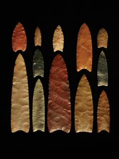 Clovis point images - Google Search. Clovis points from various sites in North America