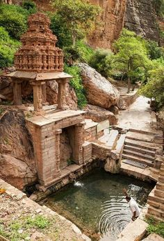 Old pond near an old temple, Yaganti, Andhra Pradesh, India – – Best in Travel – The best places to visit in 2020 Tourist Places, Places To Travel, Travel Destinations, Places To Visit, Temple India, Hindu Temple, Temple City, Indian Temple Architecture, Ancient Architecture