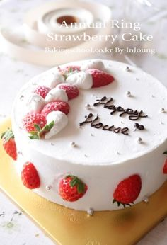 Korean strawberry cake recipe. You'll want an online translator. :)